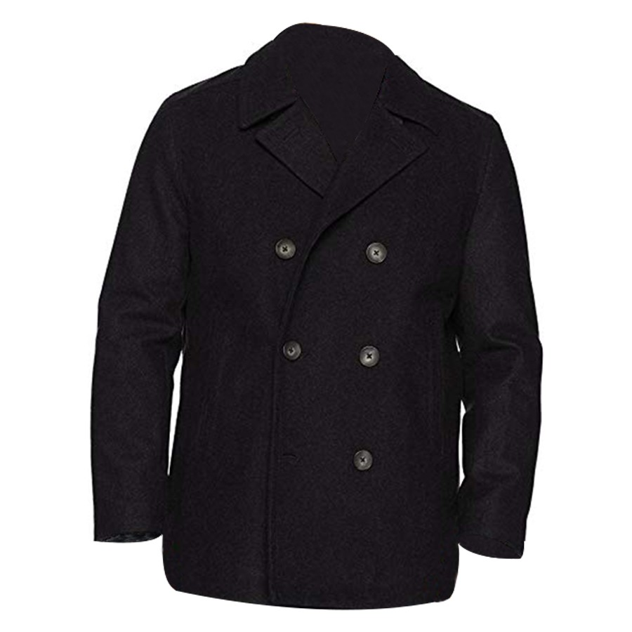 DAVID BECKHAM SLIM FIT COAT MEN/'S DOUBLE BREASTED LONG WOOL TRENCH COAT