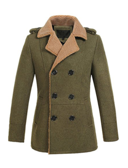 Mens-Double-breasted-Slim-Wool-Coat