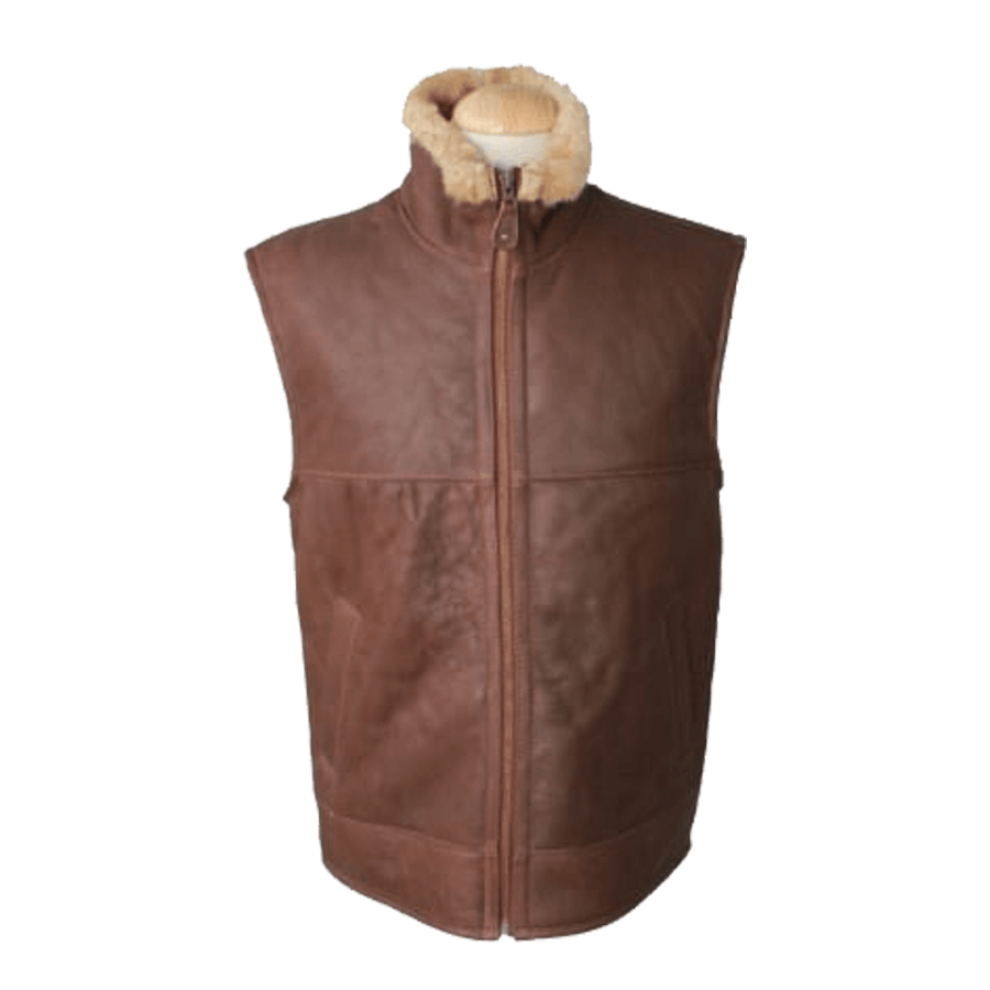 Mens Bomber Jacket Men S Harvey Gilet Leather Sheepskin Coat Bagywagy
