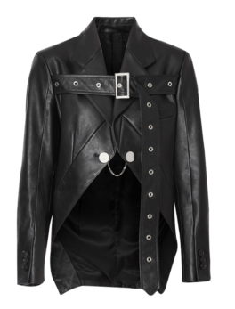 Biker-Belt-Detail-Leather-Morning-Jacket