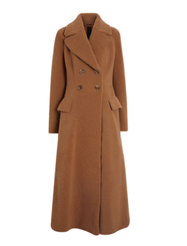Womens-Brown-Shearling-Tailored-Coat