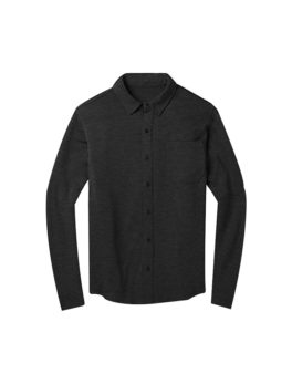 Mens merino wool button down shirt