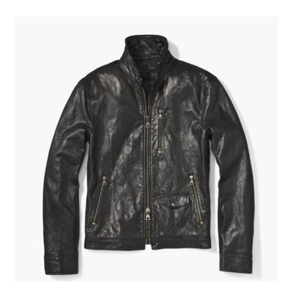 Mens-Wire-Collar-Leather-Jacket