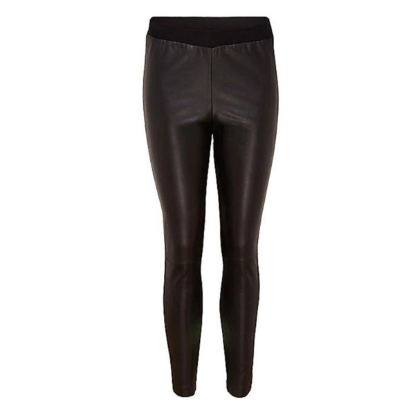 Together Faux Leather & Jersey Trousers