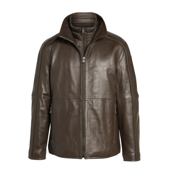 Mens-Brown-Quilted-Hartz-Leather-Jacket