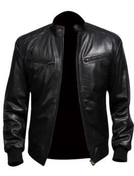Sven-Black-Leather-Bomber-Jacket