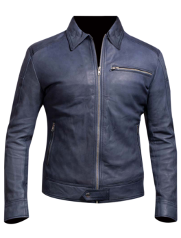Mens-Lavendard-Blue-Leather-Biker-Jacket