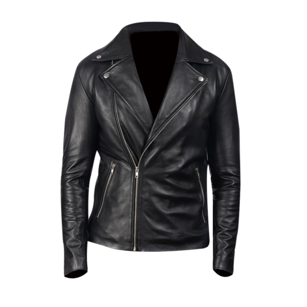 Noah-Black-Leather-Biker-Jacket