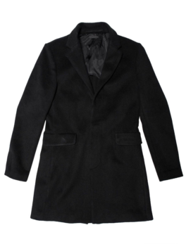 Mens Black Wool Overcoat