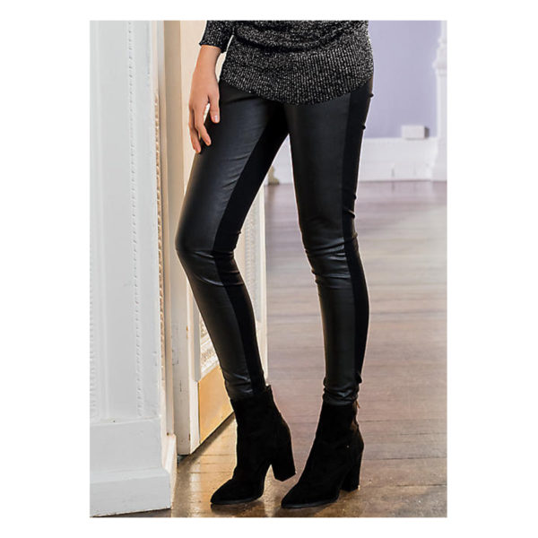 Together-Faux-Leather-&-Jersey-Trousers