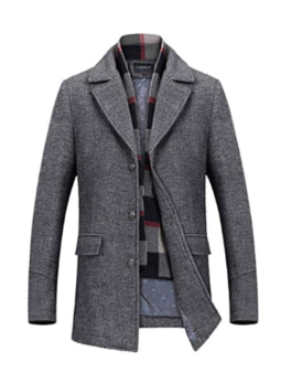 Mens-Wool-long-Slim-Trench-Jacket