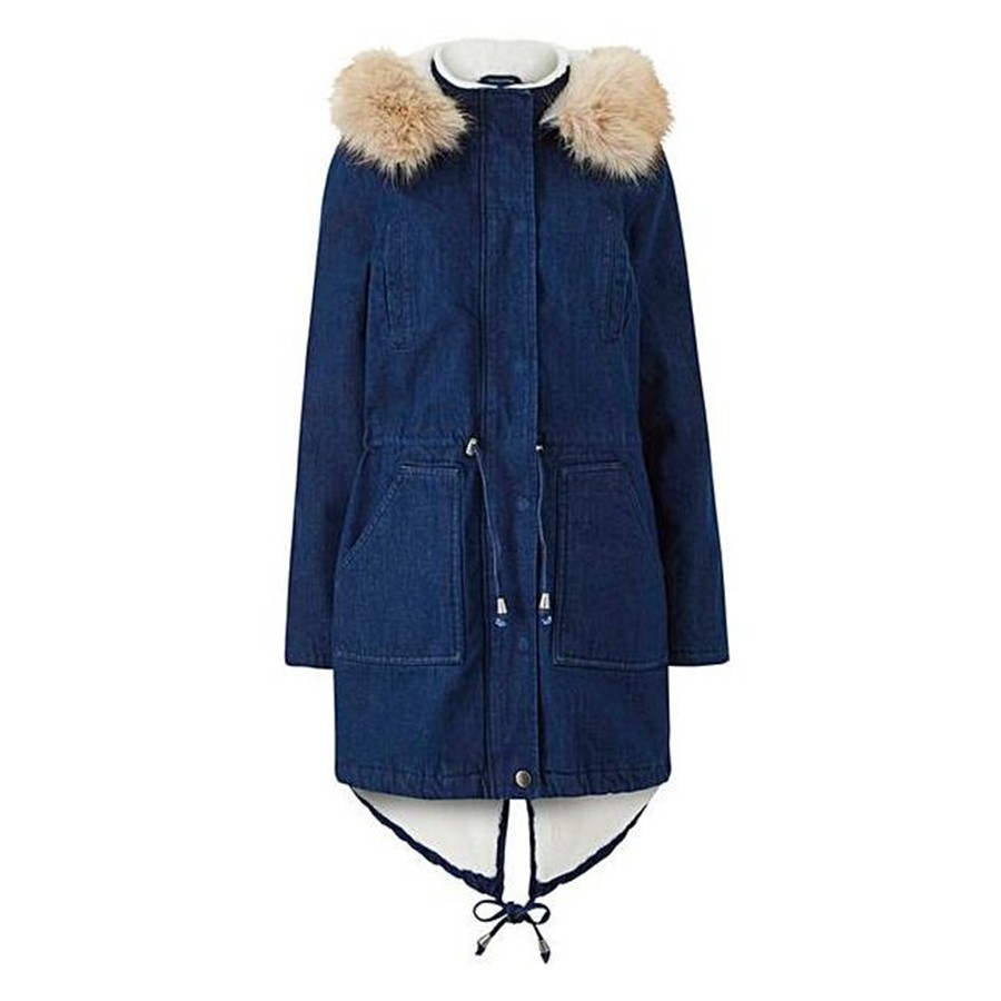 Womens Hooded Warm Winter Coats Faux Fur Lined Parkas Black Pink Green Blue Red