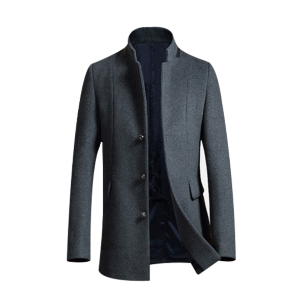 Mens-Long-Wool-Trench-Coat