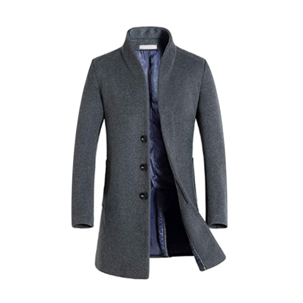 Mens-Leisure-Long-sections-Woolen-Coat