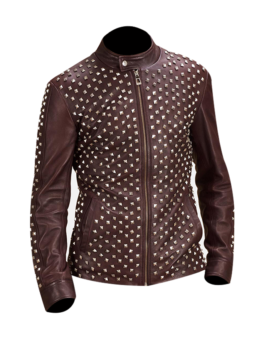 Blix-Bono-Maroon-Leather-Biker-Jacket