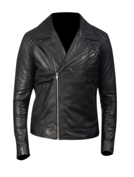 Danny-Quilted-Black-Leather-Biker-Jacket