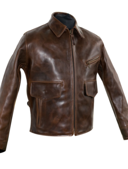 Mens-Leather-Military-Jacket