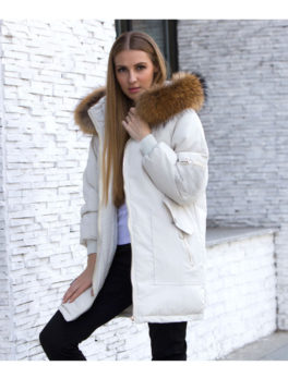 Womens-Real-Raccoon-Fur-Long-Jacket-Coat