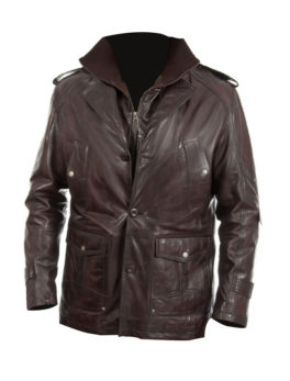 Mens-Brown-Leather-Coat