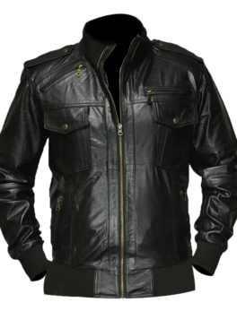 Agent-Shadow-Black-Bomber-Leather-Jacket