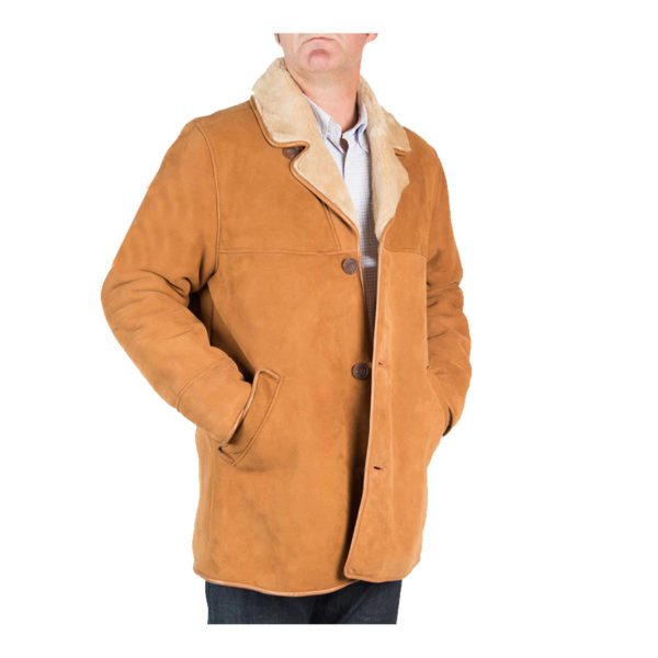 Mens-Tan-Shearling-Sheepskin-Coat