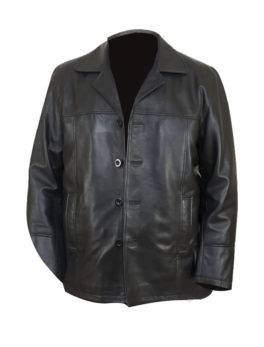 Mens-Black-Leather-Reefer-Jacket