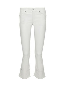 Faux Leather Kick-Flare Pants