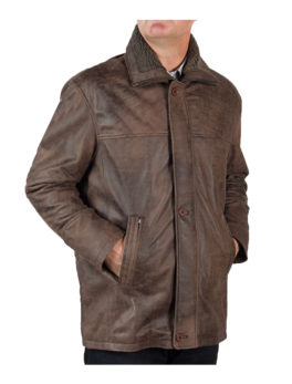 Mens-Matt-Brown-Leather-Vintage-Coat