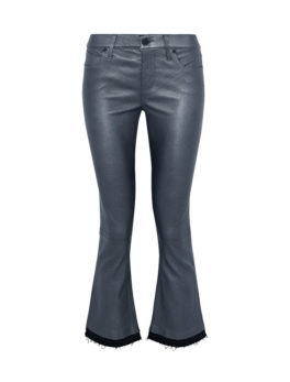 Trimmed Metallic Kick Flare Pants