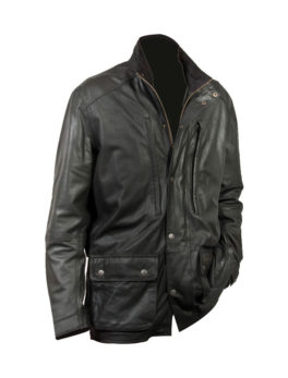 Mens-Black-Nubuck-Parka-Jacket