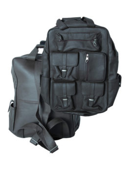 Mens-Dark Gray-Real-Leather-Laptop-Backpack