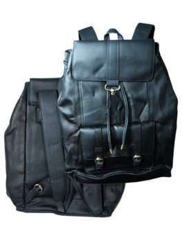 Dark-Blue-Real-Leather-Backpack