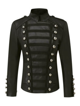 Napolean-Black-Biker-Sheepskin-Leather-Jacket
