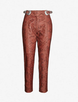 Cranberry High-Rise Tapered Leather Trouser