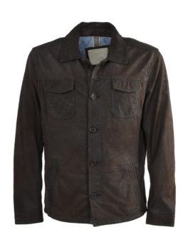 Brown-Hand-Buffed-Leather-Shirt-Jacket