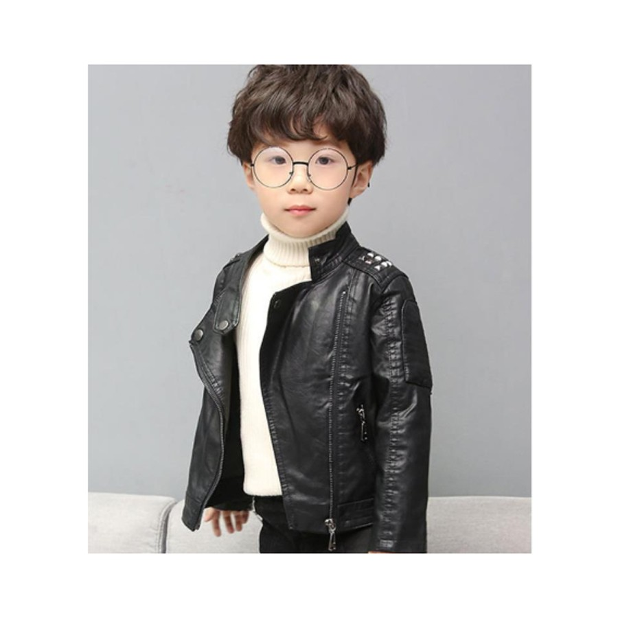 YoungSoul Childrens Quilted Faux Leather Motorcycle Jackets