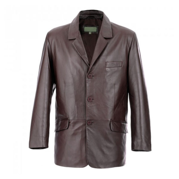 Mens-Brown-Leather-Blazer-Coat