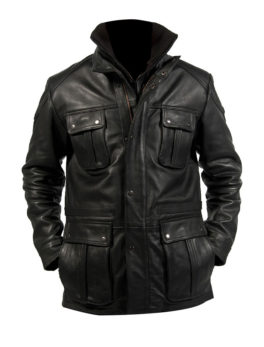 Leather racing Biker Jacket