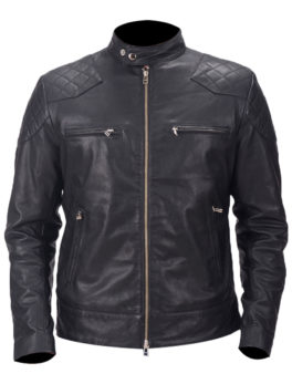 Mens-Gatsby-Black-Biker-Leather-Jacket
