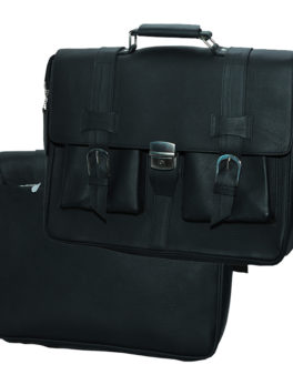 Mens-Black-Real-Leather-Briefcase