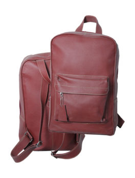 Maroon-Stylish-Real-Leather-Backpack