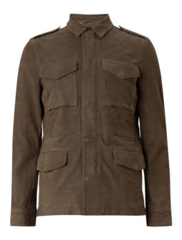 Mens-Courte-Khaki-Suede-Leather-Jacket
