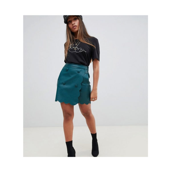 Petite-Leather-Look-Mini-Skirt