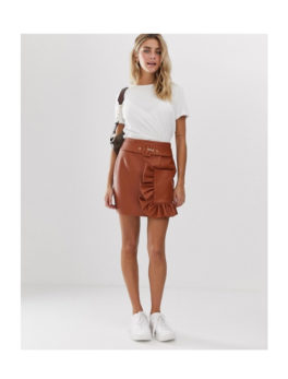 Women's-Faux-Leather-Skirts