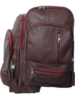 Mens-Maroon-Real-Leather-Executive-Backpack