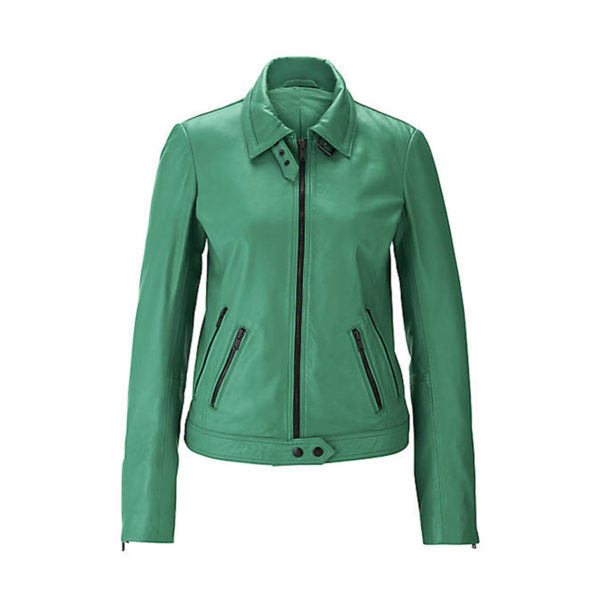 Green-Soft-Leather-Biker-Jacket