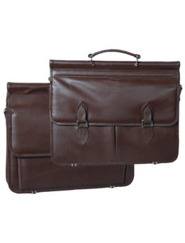 Mens-Real-Leather-Expandable-Business-Briefcase
