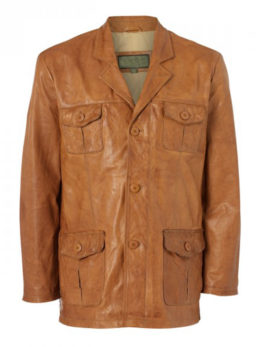 Mens-Tan-Leather-Safari-Jacket