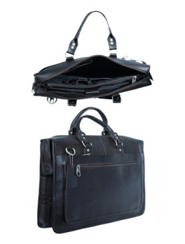 Mens-Black-Leather-Professional-Laptop-Briefcase
