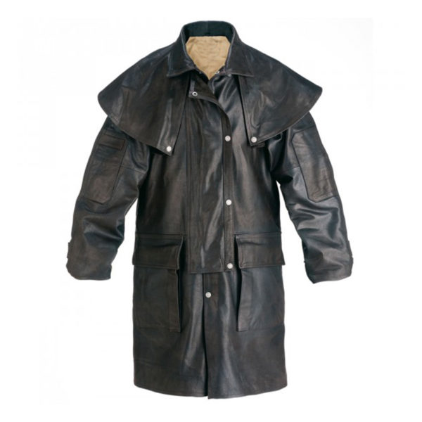 Mens-Brown-Short-Leather-Riding-Coat